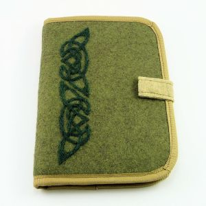 celtic tri point - olive green square