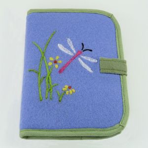 dragonfly - lavender green square